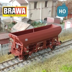 Wagon trémie à essieux Fcs 092 DB Ep V HO Brawa 49539 - Maketis