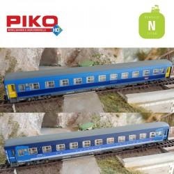 Coffret 2 voitures Corail Lunea 2cl + 1 service SNCF Ep VI N Piko 94081 - Maketis