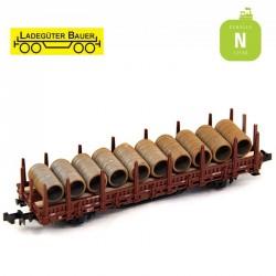 Bobines de fils d'acier rouillées N Ladegüter Bauer N1096 - Maketis