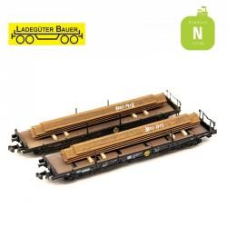 Loading of U-shaped sheet piles (2 pcs) N Ladegüter Bauer N1098 - Maketis