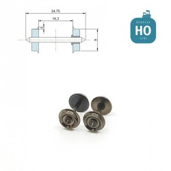Essieux NEM (2 pcs) pour wagon Roco diamètre 9,0 mm HO MAK6111 - Maketis