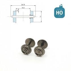 Essieux NEM (2 pcs) pour wagon Roco diamètre 11,0 mm HO MAK6112 - Maketis