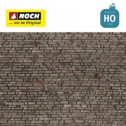 Feuille structurée 3D « Mur en pierre » 28x10cm HO Noch 60370 - Maketis