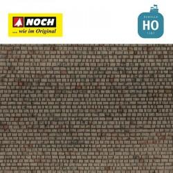 Feuille structurée 3D « Mur de pierre de taille » 28x10cm HO Noch 60372 - Maketis