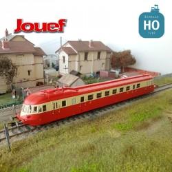 Autorail Diesel ABJ 4 SNCF Rouge/Beige toit rouge EP IV Analogique HO Jouef HJ2411 - Maketis