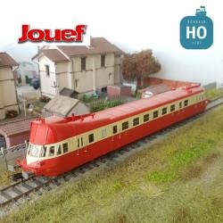 Autorail Diesel ABJ 3 SNCF Rouge/Beige toit rouge EP IV Analogique HO Jouef HJ2410 - Maketis