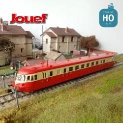 Autorail Diesel ABJ 2 SNCF Rouge/Beige toit rouge EP IV Analogique HO Jouef HJ2409 - Maketis