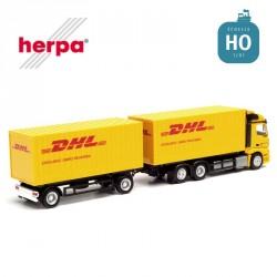 "Camion remorque fourgon Mercedes Benz Streamspace 2.3"" DHL HO Herpa 311809 - Maketis"