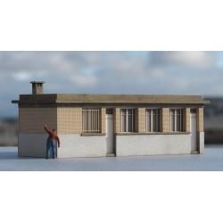 Local administratif / bureau de site industriel HO Cités Miniatures ED-028-4-HO-B - Maketis