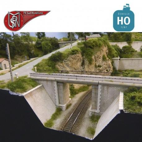 Concrete road bridge H0 PN Sud Modelisme 8701 - Maketis