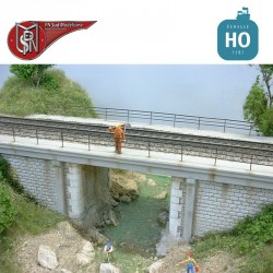Single track concrete deck bridge H0 PN Sud Modelisme 8706 - Maketis
