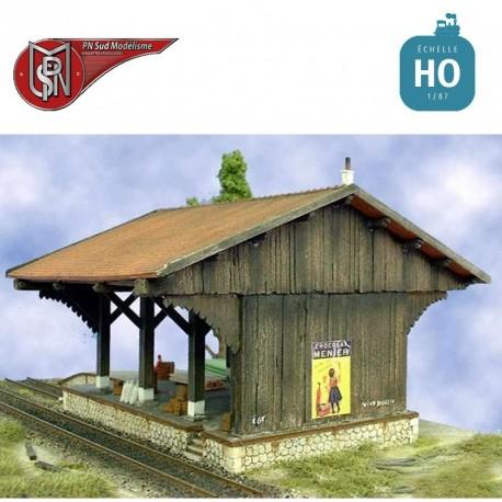 Old wooden goods shed H0 PN Sud Modelisme 8714 - Maketis