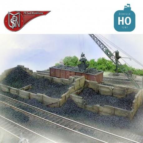Parc à charbon plus fosse (2 pcs) HO PN Sud Modélisme 8725 - Maketis