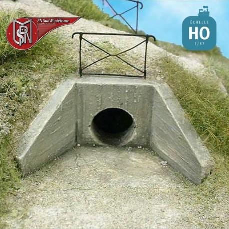 Water drainage nozzle (2 pcs) H0 PN Sud Modelisme 8734 - Maketis