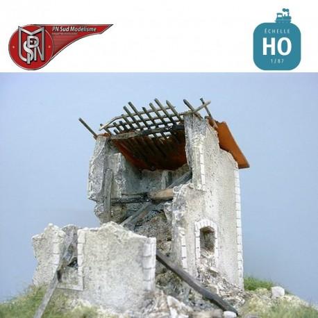 Maison en ruine HO PN Sud Modélisme 8743 - Maketis
