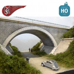 2 lane lost abutment bridge H0 PN Sud Modelisme 8753 - Maketis