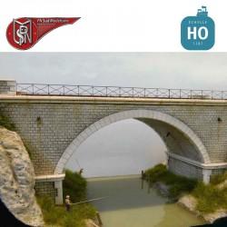 1 Bogen 2-spurige Brücke H0 PN Sud Modélisme 8763 - Maketis
