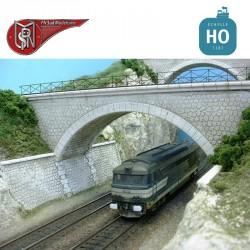 1 Fahrspur verloren Widerlagerbrücke H0 PN Sud Modélisme 8774 - Maketis
