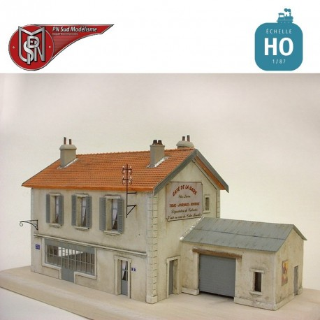 Café de la gare HO PN Sud Modélisme 8777 - Maketis
