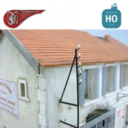 Telegrafische Beiträge (5 St) H0 PN Sud Modélisme 8782 - Maketis