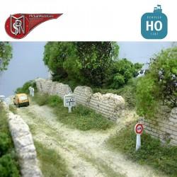 Mur de campagne HO PN Sud Modélisme 8783 - Maketis