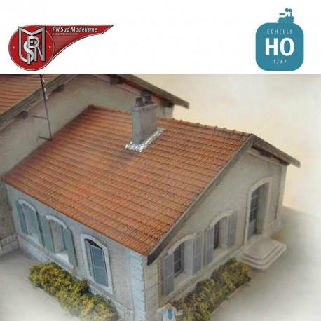 Fireplace and dormitory H0 PN Sud Modelisme 8790 - Maketis