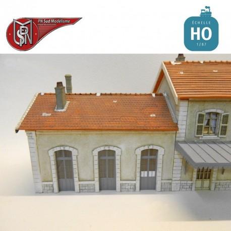 Annexe 3 portes de gare HO PN Sud Modélisme 8793 - Maketis