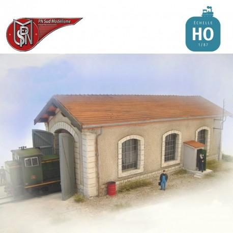 Short single track shed H0 PN Sud Modelisme 8795 - Maketis
