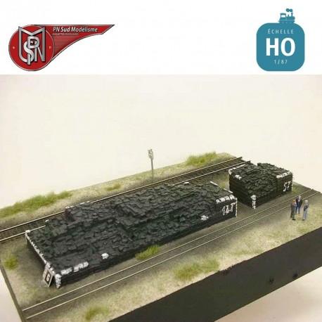 Large pile of briquettes (2 pcs) H0 PN Sud Modelisme 87108 - Maketis