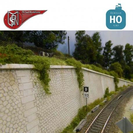Kit complet Mur pierre hexagonale HO PN Sud Modélisme 87300 - Maketis