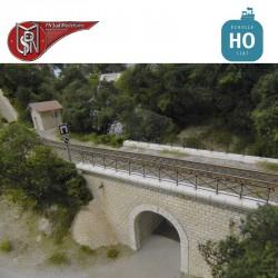 Rambarde en croisillons pour pont HO PN Sud Modélisme 87703