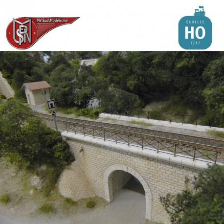 Rambarde en croisillons pour pont HO PN Sud Modélisme 87703 - Maketis