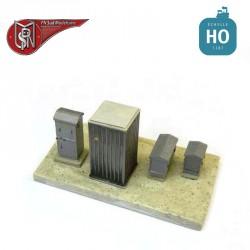 Cabinet and battery kit (2 pcs) H0 PN Sud Modelisme 0807 - Maketis