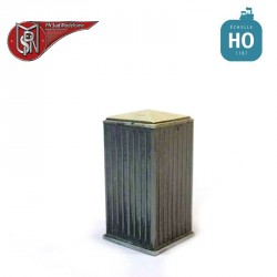 Electric sheet metal cabinets (2 pcs) H0 PN Sud Modelisme 0802 - Maketis