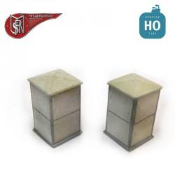 Electric cabinets, mixed (2 pcs) H0 PN Sud Modelisme 0803 - Maketis