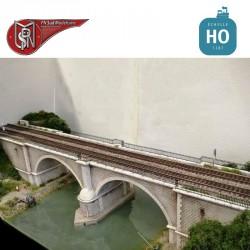 Bridge with two arches for double tracks H0 PN Sud Modélisme 8757 - Maketis