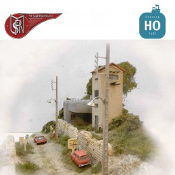 Poteaux béton EDF (5 pcs) HO PN Sud Modélisme 87116 - Maketis