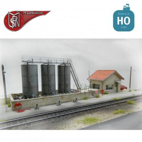Station de stockage à gasoil pour dépôt HO PN Sud Modélisme 87120 - Maketis