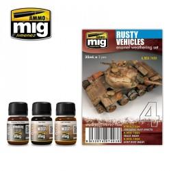 Set couleur véhicules rouillés Mig AMIG7403 - Maketis