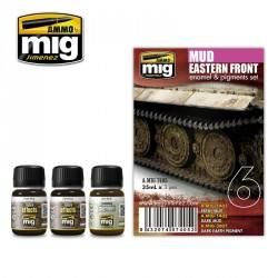 Set couleur boue sombre du front de l'est Mig AMIG7405 - Maketis