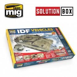 """Coffret de peinture Tout en Un """"Solution Box"""" pour véhicules Israéliens Mig AMIG7701 - Maketis"""