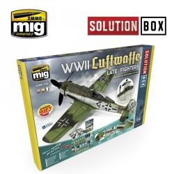 """Coffret de peinture Tout en Un """"Solution Box"""" pour Chasseurs Luftwaffe Mig AMIG7702 - Maketis"""