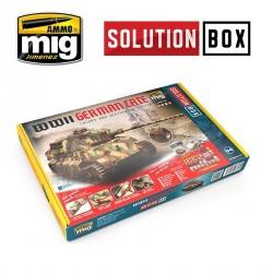 """Coffret de peinture Tout en Un """"Solution Box"""" Véhicules Allemands (fin WWII) Mig AMIG7703 - Maketis"""
