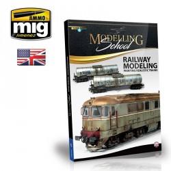 Livre Modelling School en Anglais : peindre des trains réalistes Mig AMIG6250 - Maketis