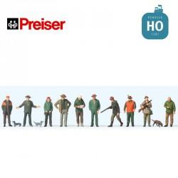 Chasseurs et rabatteurs HO Preiser 10803