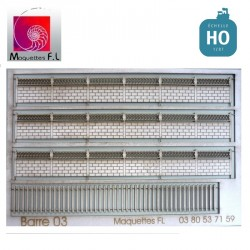 Clôture béton modèle 03