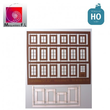 Huisseries marrons Maquettes FL - MAKETIS