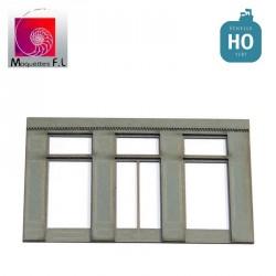 Façade moderne de boutique grise