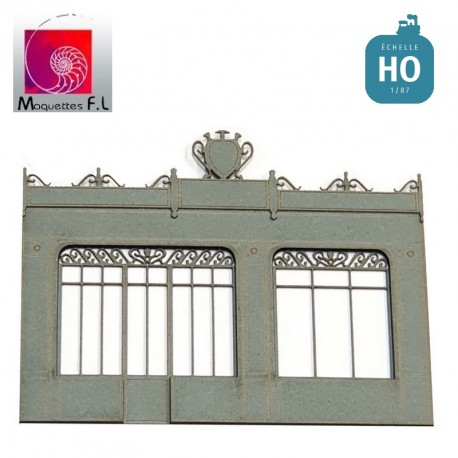 Façade rétro de boutique HO Maquettes FL Fac03.87 - MAKETIS