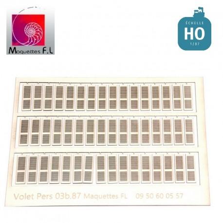 Volets persiennes pour Ref: 03b.87, blanc.